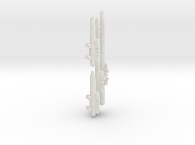 AMM 101 Pylons for Arcadia in White Natural Versatile Plastic: 1:60