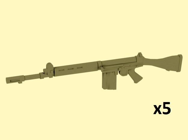 1/24 scale FN FAL rifles