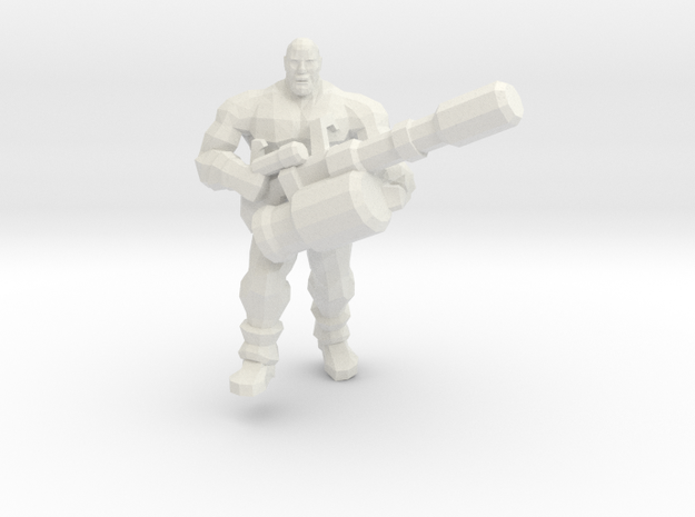 Heavily Armed Gas Miner in White Natural Versatile Plastic