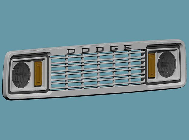 1/25 1977 Dodge Ramcharger Grill in Smoothest Fine Detail Plastic