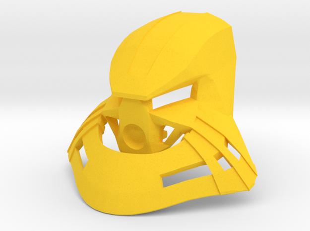 Noble Kanohi Garai in Yellow Processed Versatile Plastic