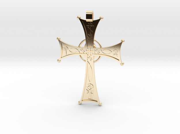 A Cross for All Christians in 14k Gold Plated Brass