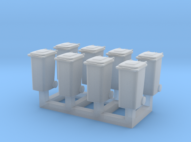 TT Trash bin set C ( 8 pcs ) 1:120 scale  in Smoothest Fine Detail Plastic