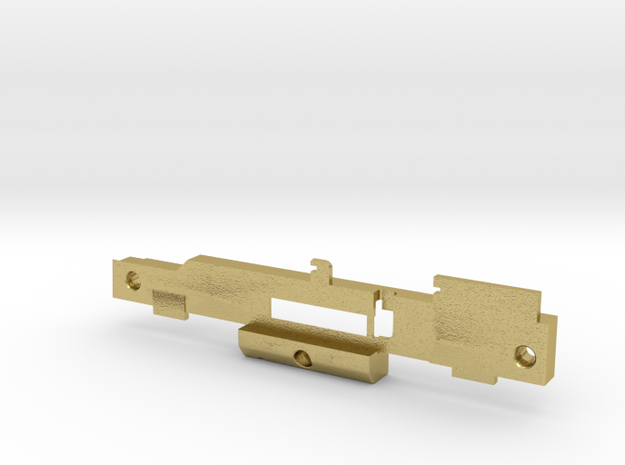 GE U36B chassis frame left in Natural Brass