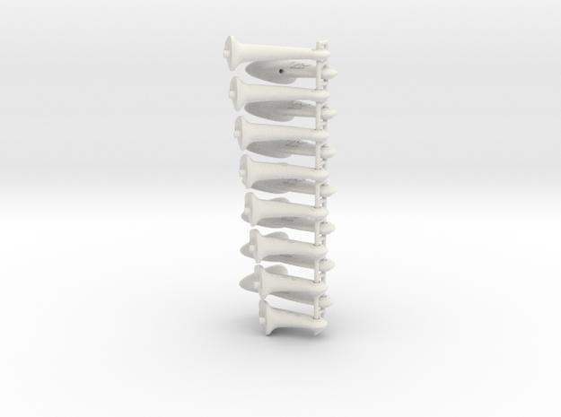 21-35mm F2D Control Horn - v2.1 in White Natural Versatile Plastic