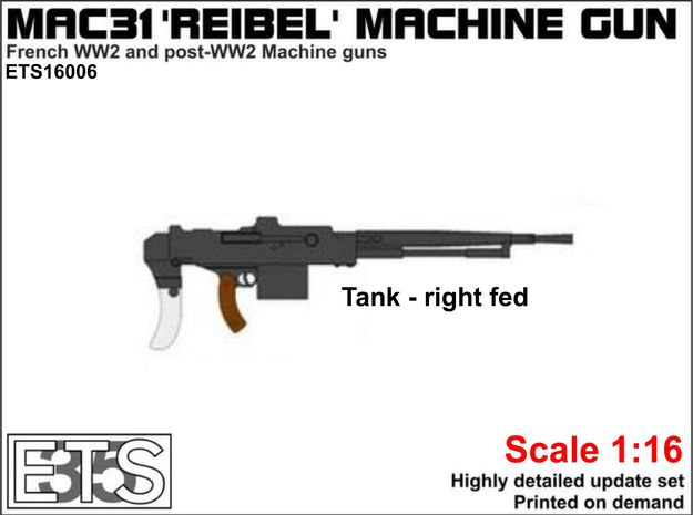 ETS16006 - MAC-31 'Reibel' machine gun (tank) in Smooth Fine Detail Plastic