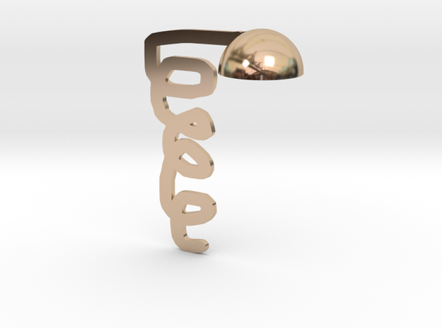 table lamp in 14k Rose Gold Plated Brass: Medium