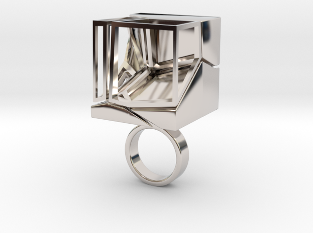 Mocube in Rhodium Plated Brass
