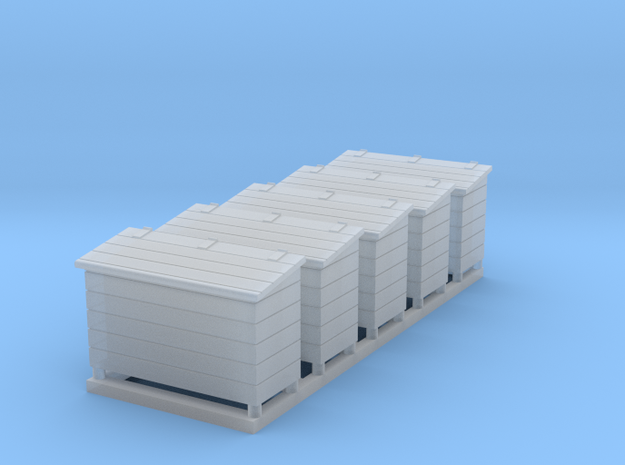 5 O Scale Wood Toolboxes in Smooth Fine Detail Plastic