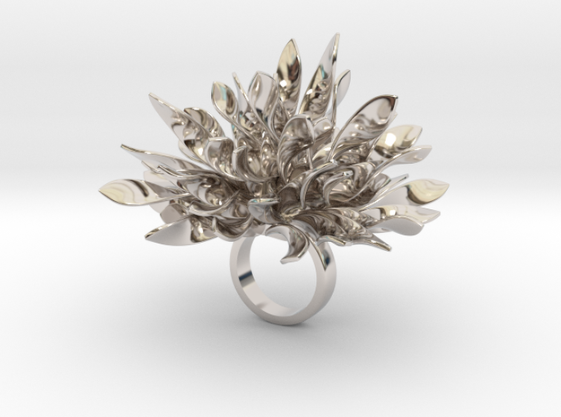 Leberry in Rhodium Plated Brass
