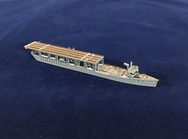 USS Langley 1/1800 in White Natural Versatile Plastic