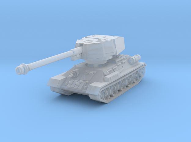 T34-100 tank scale 1/160 in Smooth Fine Detail Plastic