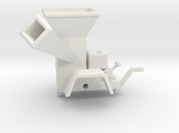 WoodChipper-Yard 43:1 Scale in White Natural Versatile Plastic