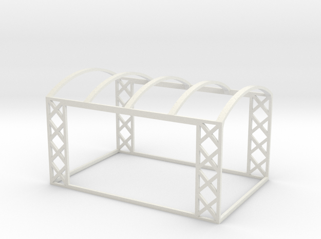 On30 Open-Air Rail Car Frame in White Natural Versatile Plastic