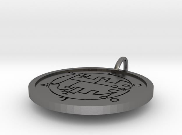 Stolas Medallion in Polished Nickel Steel