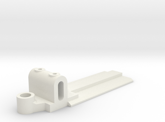 15mm Wide, 50mm long Front End, extended guide in White Natural Versatile Plastic