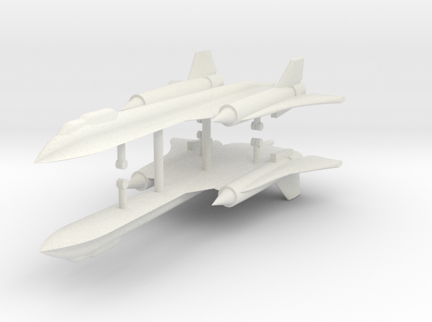 1/500 SR-71B/C Blackbird (x2) in White Natural Versatile Plastic