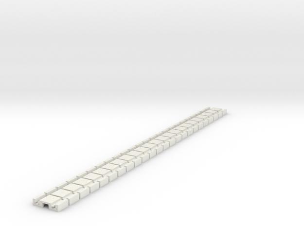 p-9stp-slim-flexi-tram-track-100-x24-1a in White Natural Versatile Plastic