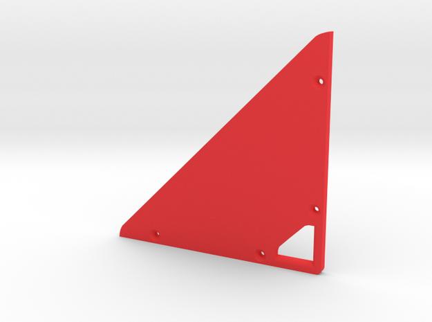 Prism P7 - Bottom Dock Plate (PART) in Red Processed Versatile Plastic