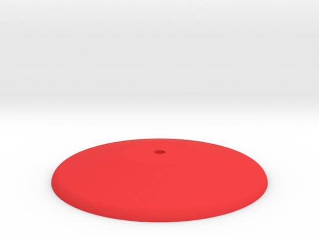 Prism P7 - Base (PART) in Red Processed Versatile Plastic