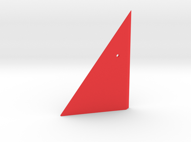 Prism P7 - Right Dock Wall (Top Half) (PART) in Red Processed Versatile Plastic