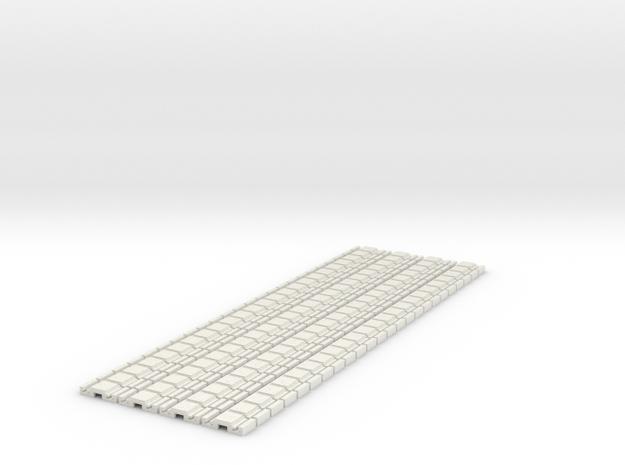 p-9stg-slim-flexi-tram-track-100-x96-1a in White Natural Versatile Plastic
