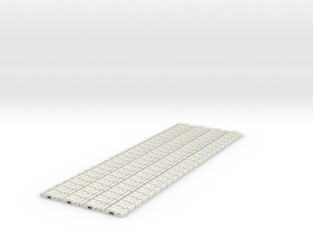 p-9st-slim-flexi-tram-track-100-x96-1a in White Natural Versatile Plastic