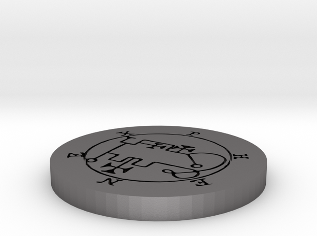 Phenex Coin in Polished Nickel Steel