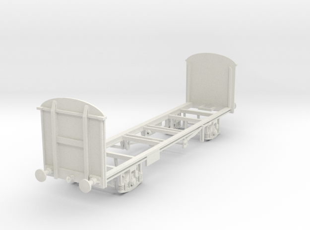 4mm PVB Campbells soup wagon chassis in White Natural Versatile Plastic