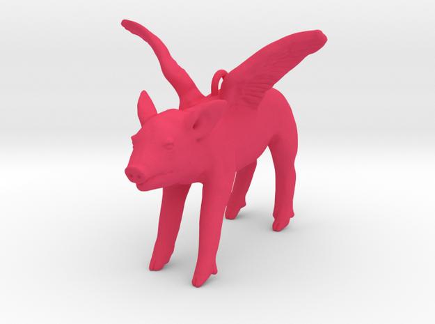 2013: Flying Pig in Pink Processed Versatile Plastic