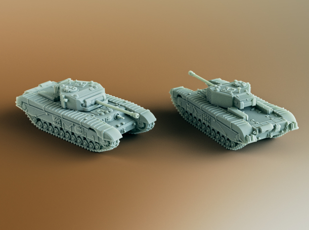 Black Prince (A43) British Tank Scale: 1:285 in Smooth Fine Detail Plastic