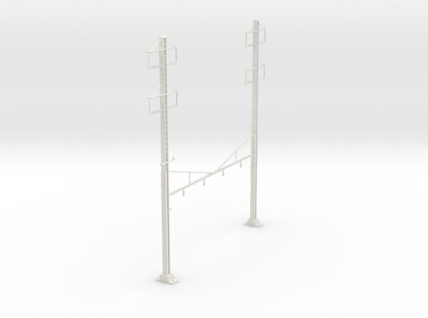 HO Scale PRR K Braced 4  Track 2 2 PHASE REV in White Natural Versatile Plastic
