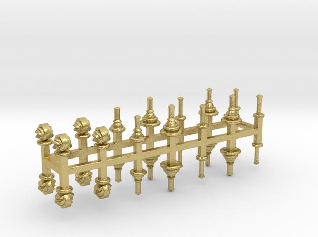 bay Dachaufsätze 3 -  1:120 TT Messingausführung 2 in Natural Brass