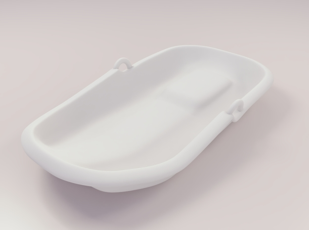 Miniature sled plastic in White Natural Versatile Plastic