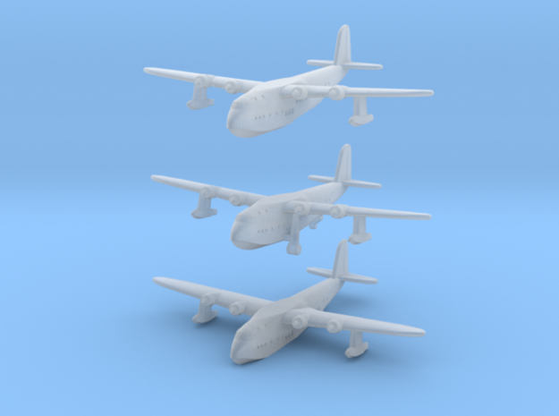 Short S23 Empire Flying Boat Set in Smoothest Fine Detail Plastic: 1:1250