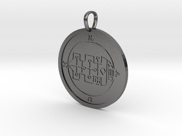 Raum Medallion in Polished Nickel Steel