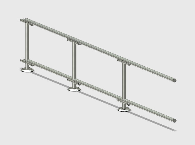 6' Straight Fence Frame-3-Bay (2ea.) in White Natural Versatile Plastic: 1:87 - HO