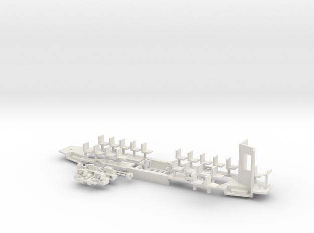 Konstal 105Na Fahrwerk Kabine klein in White Natural Versatile Plastic