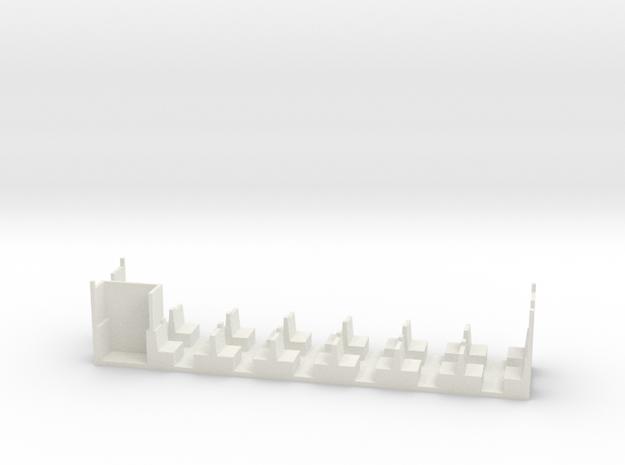 Inneneinrichtung für die alten H0e-Liliput 4achser in White Natural Versatile Plastic