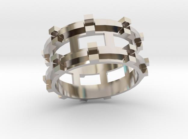 Runis ring in Rhodium Plated Brass