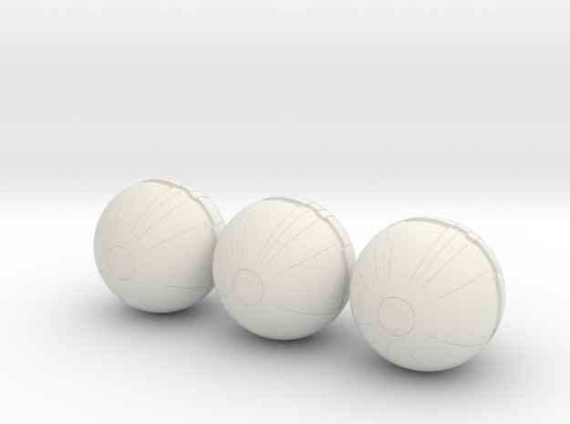 3 thermal detonators 1/6 scale in White Natural Versatile Plastic