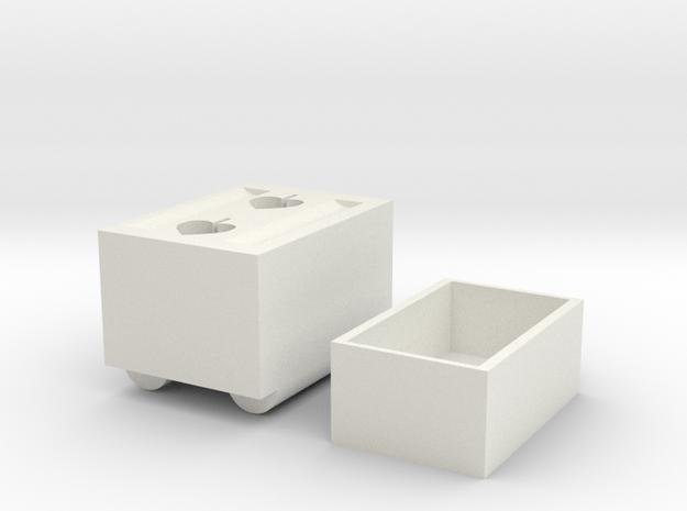 Shoe Cabinet in White Natural Versatile Plastic