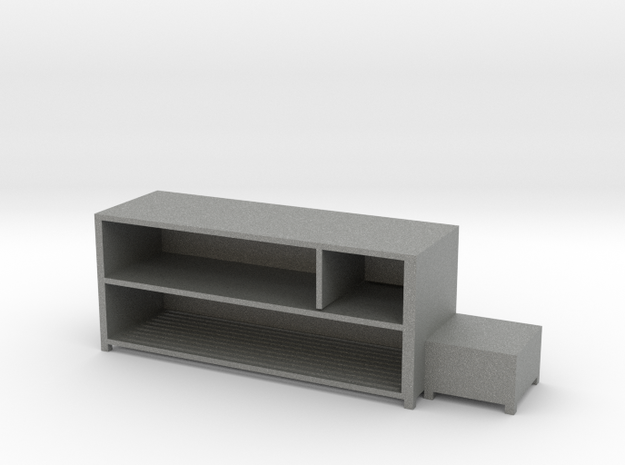 Shoe Rack Cabinet in Gray Professional Plastic