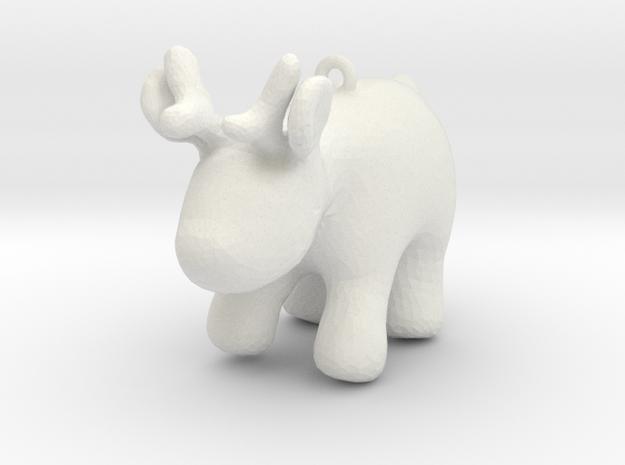 Cartoon deer keychain 4 in White Natural Versatile Plastic