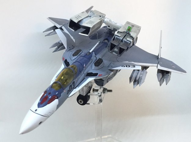 VF-31 Strike Canons (Retractable Pod) in White Natural Versatile Plastic: 1:60