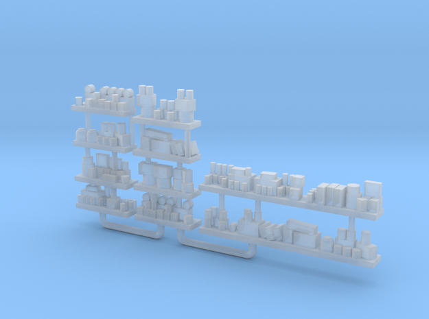 Interior Shelves loaded with Goods HO 10 Pack in Smooth Fine Detail Plastic