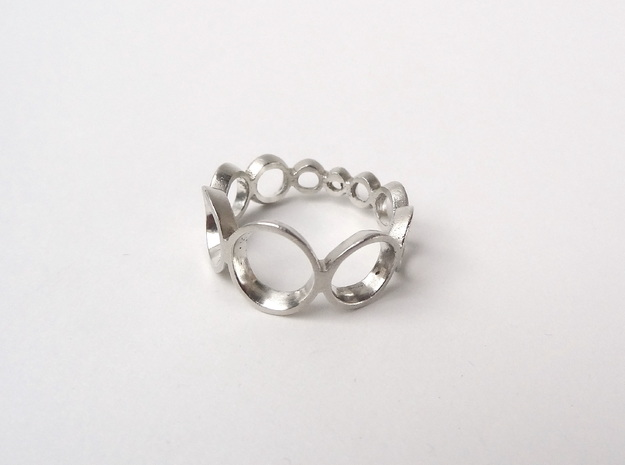 circles ring in Polished Silver: 7 / 54