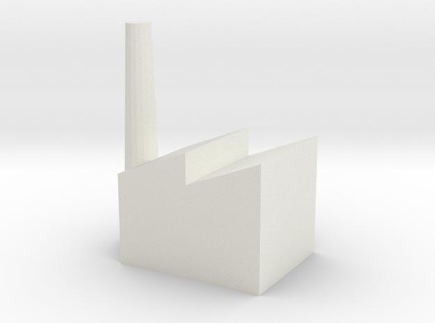 Minor Industrial Complex in White Natural Versatile Plastic