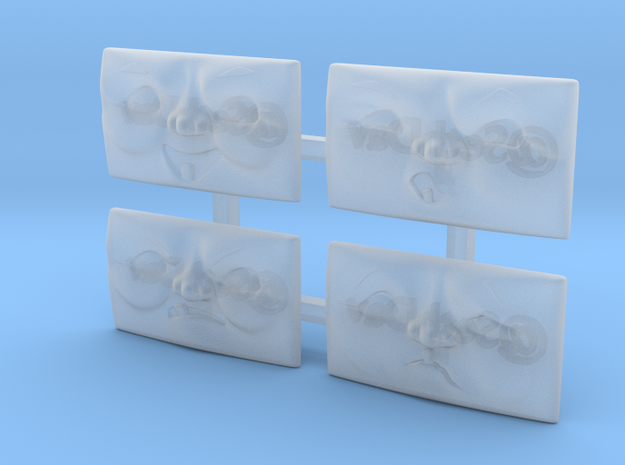 Ballast Truck Face Pack (4x) in Smoothest Fine Detail Plastic: 1:76 - OO