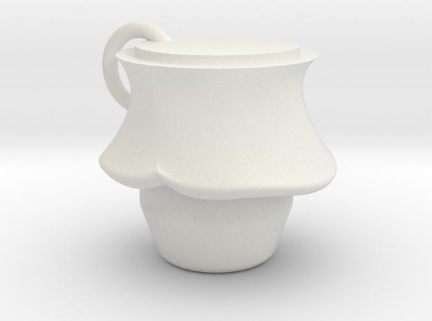 Mushrooms Pendant in White Natural Versatile Plastic: Medium
